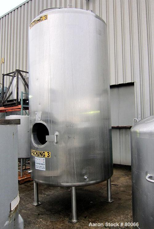 "Used- Walker Stainless Kettle, Model IBT, 1500 Gallon, 316L Stainless Steel, Vertical. Approximate 59"" diameter x 119"" strai..."