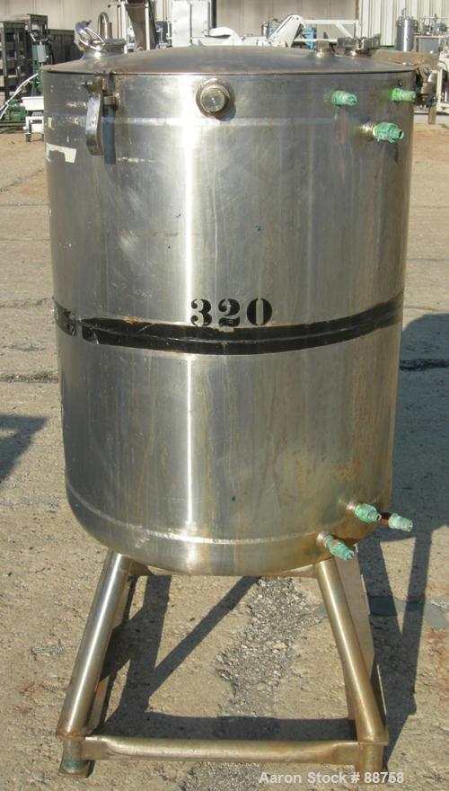 "USED:  Walker Kettle, 100 Gallon, Model MELT, 316 Stainless Steel, Vertical.  28"" diameter x 34"" straight side, open top wit..."