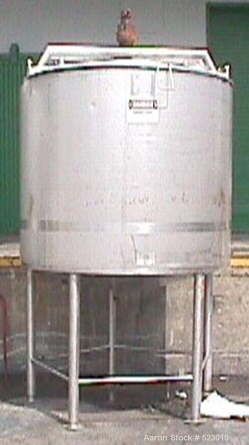 USED: Walker 1000 gallon processor, model PZ-CB-SP, 316 stainless steel. The jacket is rated for 125 psi at 353 F and covers...