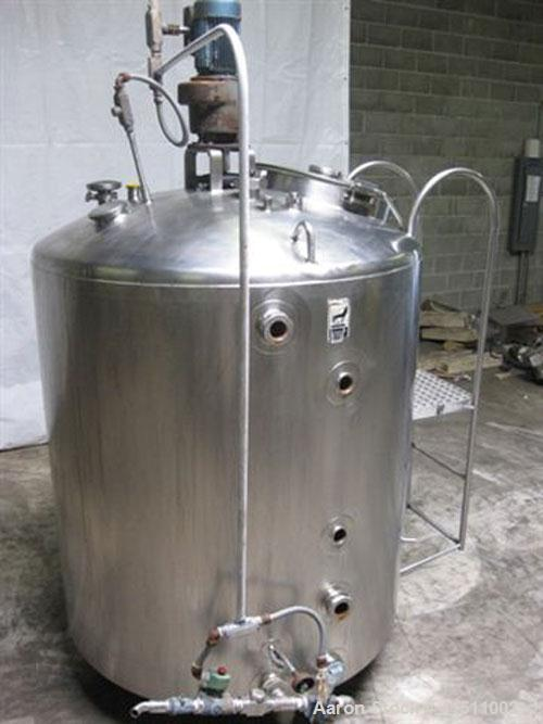 "Used-300 Gallon Walker Processor, model PZ-ST, all stainless steel. 45"" diameter x 28"" straight side. Dish top, slope bottom..."