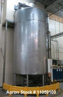 Used- Walker 7000 Gallon Vertical Sanitary Jacketed Process Mix Tank