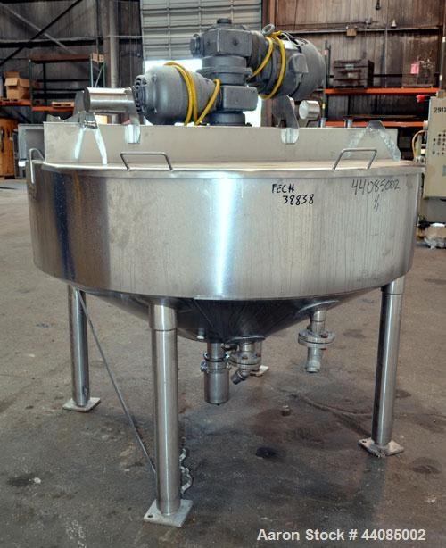 "Used- Watson Metal Masters Double Motion Kettle, 250 Gallon, 316 Stainless Steel. Approximate 72"" diameter x 16"" straight si..."