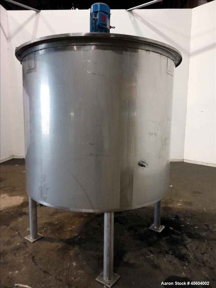 Used- 600 Gallon Stainless Steel Jacketed Mixing Tank