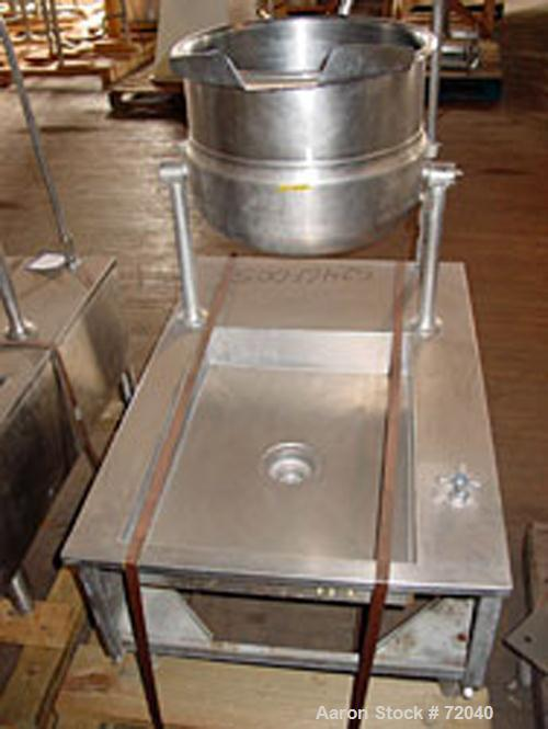 Used- Welbilt Kettle, 12 Gallon, Model KDT12T, Stainless Steel. Rated 50 psi at 298 deg F. Tilt design with pouring lip. Mou...