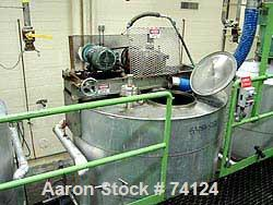USED: Willflow 1,000 gallon jacketed kettle, vertical, stainless steel. Jacket rated 90 psi @ 333 deg F. National Board #121...