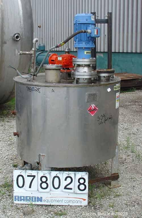 """USED: Wolf Mechanical & Equipment Co 250 gallon, 304 stainless steel, kettle. 46"""" diameter x 33"""" straight side, flat bolt-on..."""