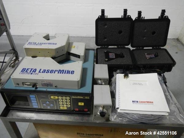 Used- Beta Laser Mike, controller model 182-300, serial# 98-2862, with model 201-100, range from .25-25mm, +/- .006%, serial...