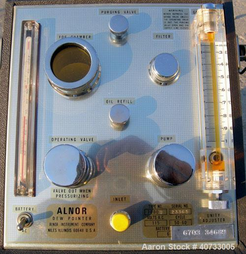Used-  Alnor Dew Pointer, type 7000 U.  Max measuring limits from 10 degrees below room temperature to -80 degrees F.  115 v...