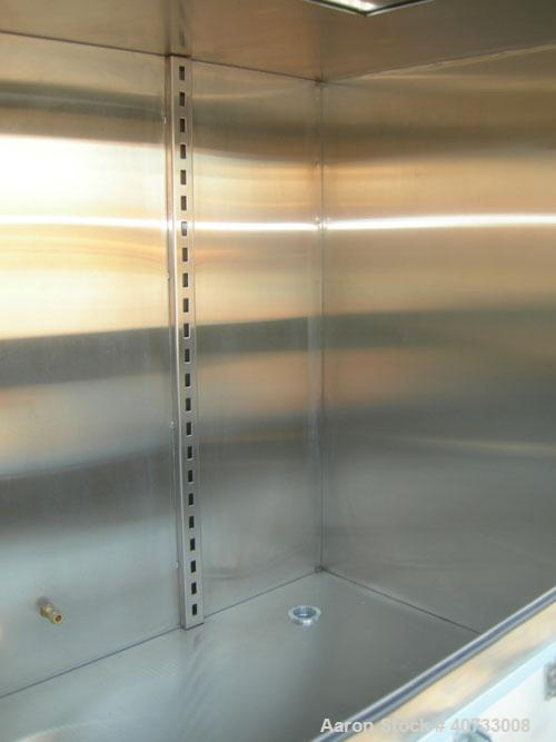 "Used- IT Innovative Technology glove box isolation chamber, model S1M.  304 stainless steel chamber approximately 48"" long x..."