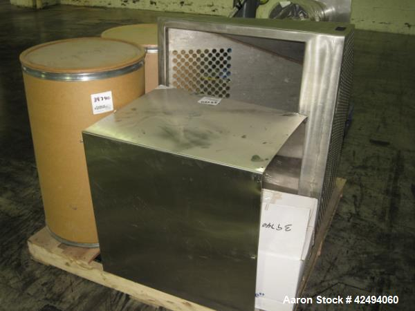 Used-Applied Containment isolator with drum loading isolator, stainless steel construction, main unit consists of (4) glove ...