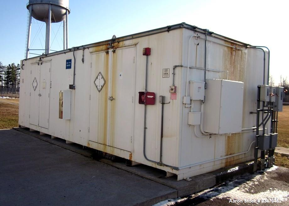 Used- Carlisle Building System Chemical Storage Building. (2) Double door access, temperature controlled, approximate 25' lo...