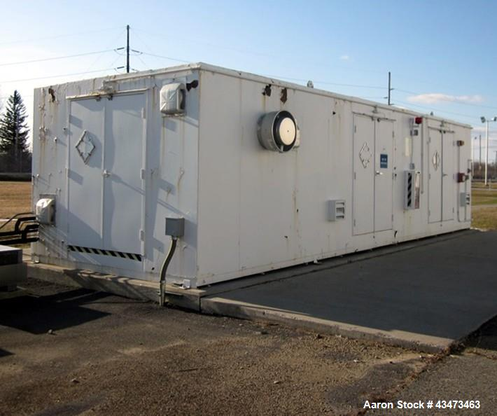 "Used- Chemical Storage Building. (2) Room design, temperature controlled, approximate 33' x 11' wide area, 35' x 14' x 100"" ..."