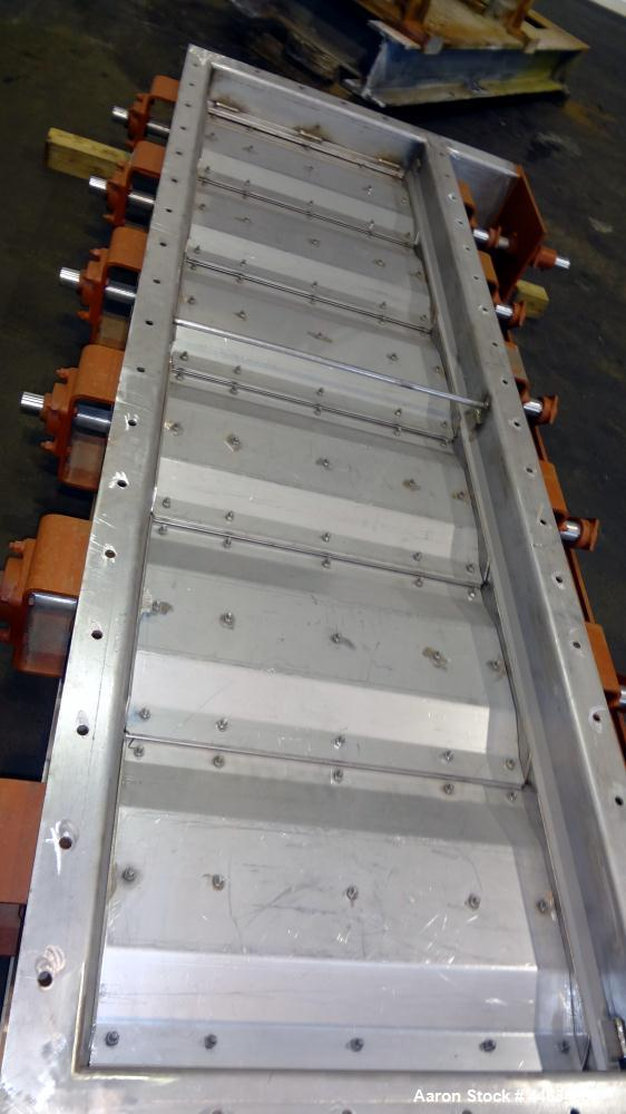 """Unused- Air Clean Damper Company 316 Stainless Steel Air Flow Damper. Approximately 29-3/4"""" wide x 108"""" long with (6) louver..."""
