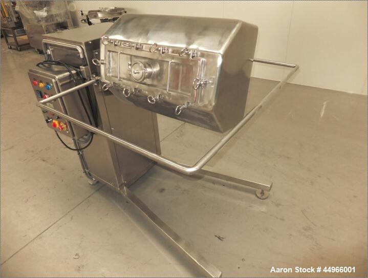 Used- Anchor Mark Pvt Ltd 200 Liter Octagonal Powder Blender, stainless steel construction.  Rated 200 liter / 80 kg.  With ...