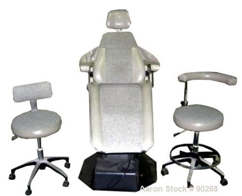 USED: A-Dec dental chair, model 1005. Foot pedal controls, wall mount delivery system with light and cuspidor. Includes doct...