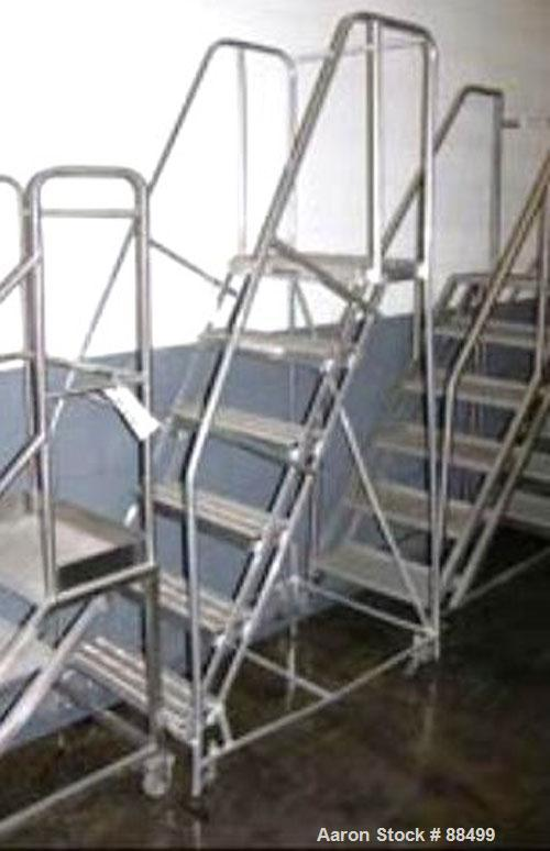 Used- Stainless Steel Set of Portable Stairs
