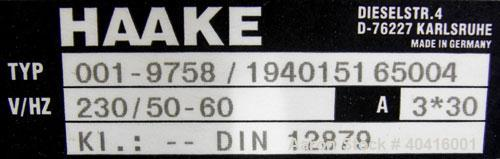 "Used- Haake Rheomix 3000, twin blade, 410 stainless steel, electrically heated.  (2) 2 1/2"" diameter x approximately 3 1/2"" ..."