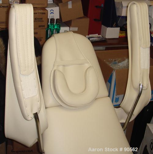 USED: Dental chair. Manually operated foot pedals. Includes electric controls and adjustments.