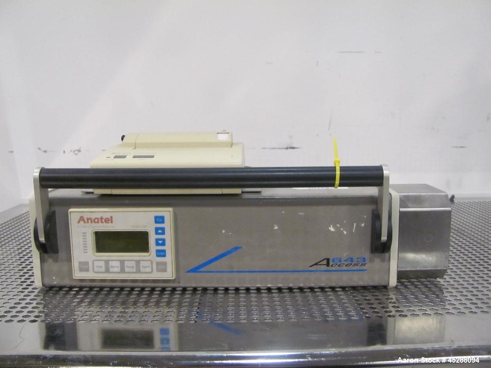 Used- Anatel Access Total Organic Compound Analyzer, Model A643P. Includes a thermal printer. Serial# 1104.