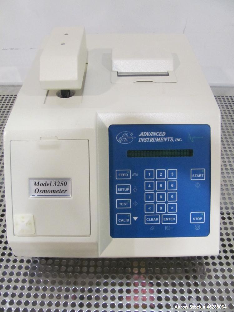 Used- Advanced Instruments Osmometer, Model 3250. Sample volume 200 to 250µL, sample capacity single sample, readout 20-char...