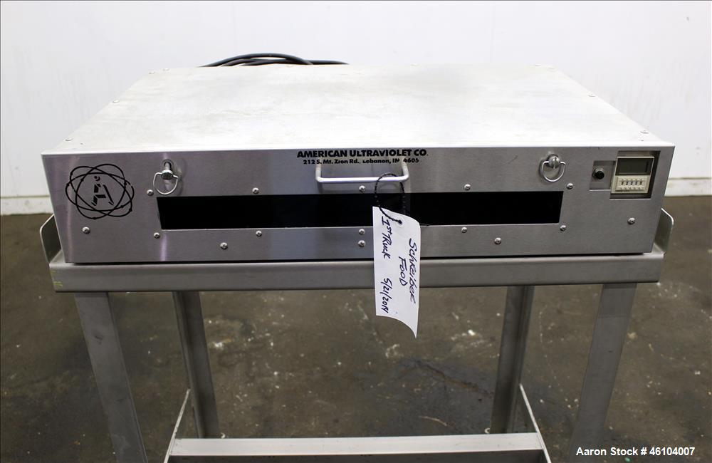 """Used- American Ultraviolet Co. Single Drawer Sterilizer. Drawer size 28-1/4"""" wide x 18-1/4"""" deep x 2"""" tall. 110 Volt. Cart i..."""