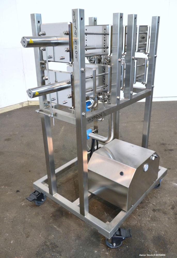 Used- Stainless Steel Amersham Biosciences Crossflow Filtration Kvick Flow Cassette Holder System