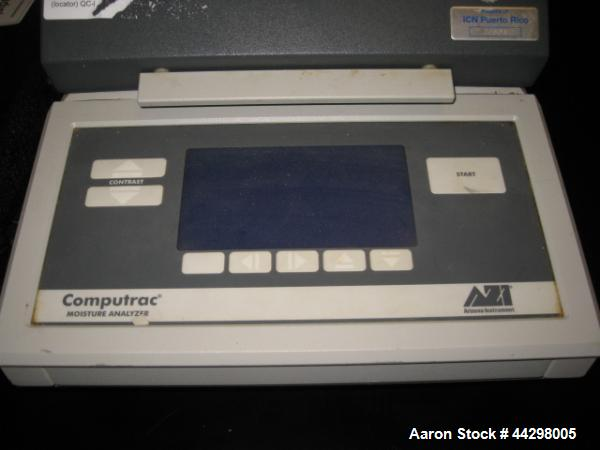 Used- Arizona Instrument Computrax Max-2000 Moisture Analyzer