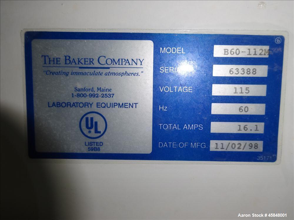 Used- The Baker Company BioGard Biological Safety Cabinet Model B60-112M