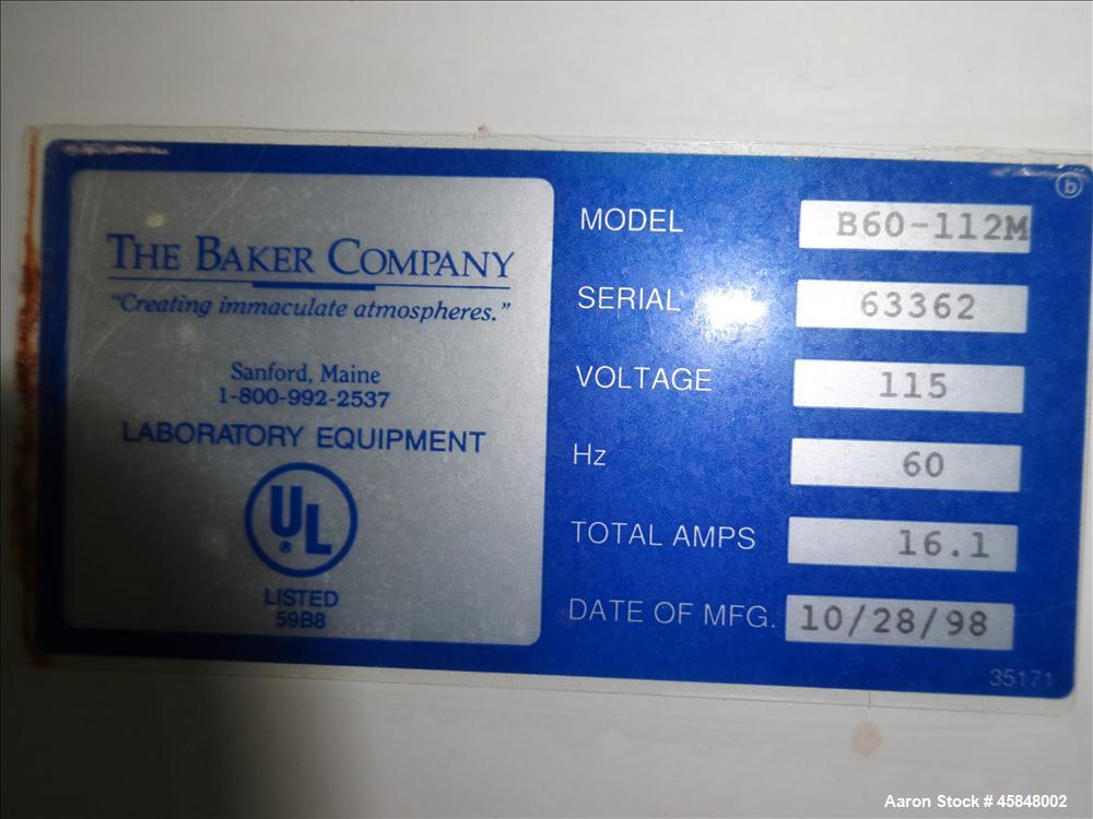 Used- The Baker Company BioGard Biological Safety Cabinet Model B60-112M
