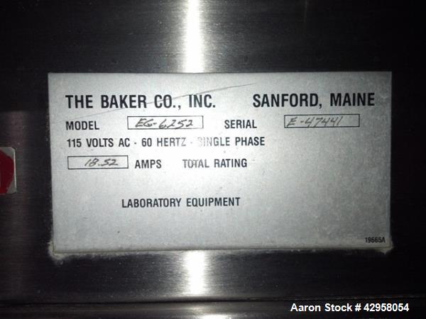 Used- Stainless SteelThe Baker Company Edge GUARD Fume Hood, Model EG-6252