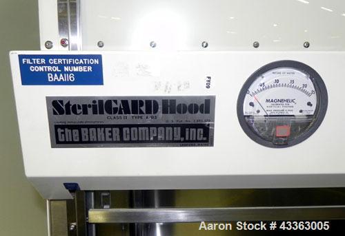 Used- Stainless Steel The Baker Company SterilGard Hood, Model SG-600