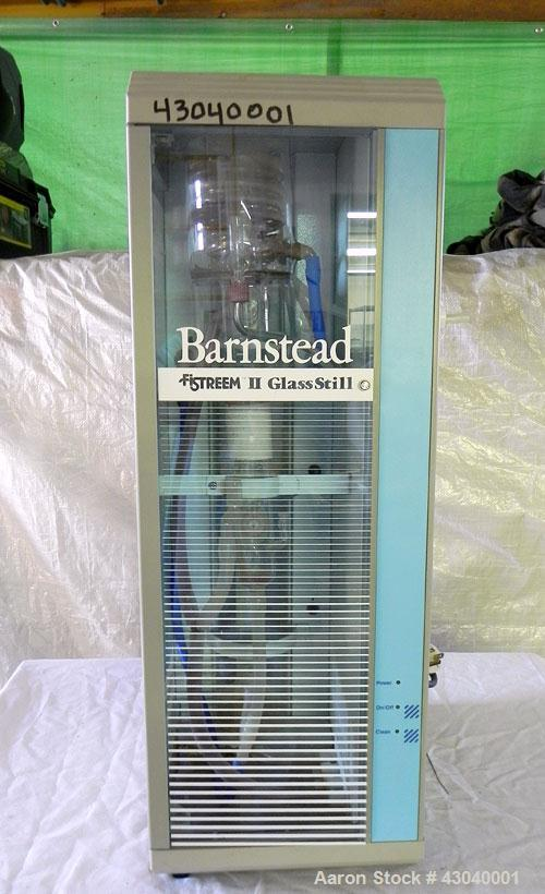 Used- Barnstead Fi-Stream II Glass Still, Model A56210. Product water capacity 1.4-2 liters per hour. Designed to effectivel...