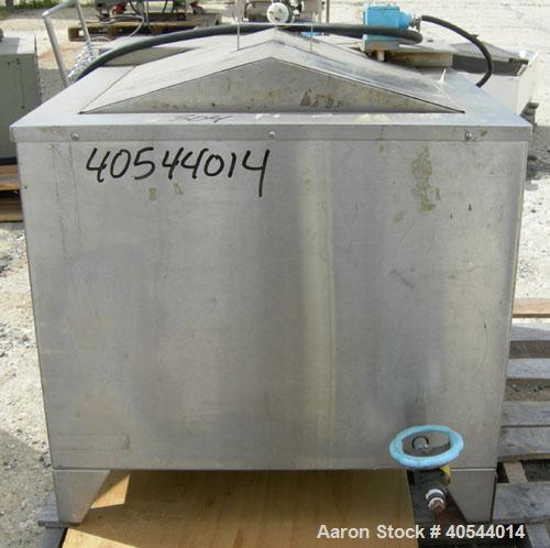 Used- Blue M Constant High Temperature Circulating Utility Oil Bath, Model MW-1155C-2, 304 Stainless Steel. Trough measures ...