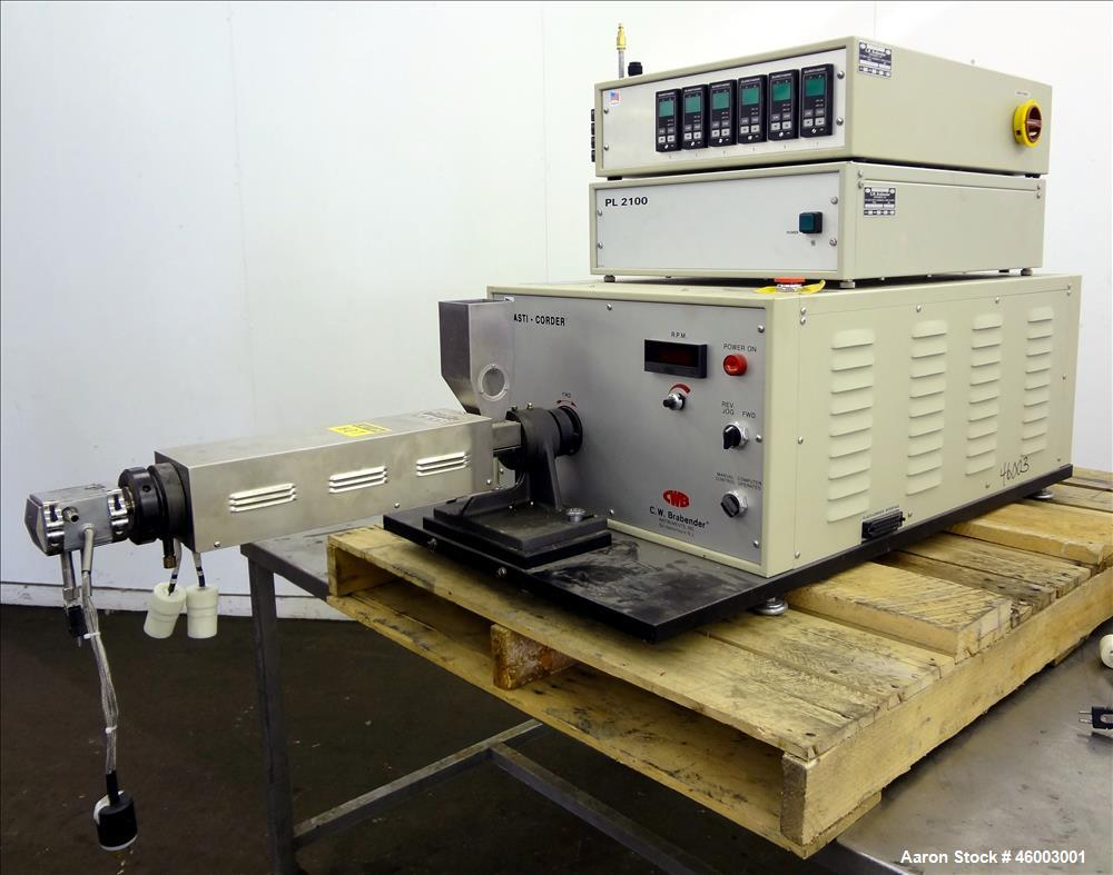 Used- Brabender Plasti-Corder Model PL2100 Extruder with mixer and extruder acce