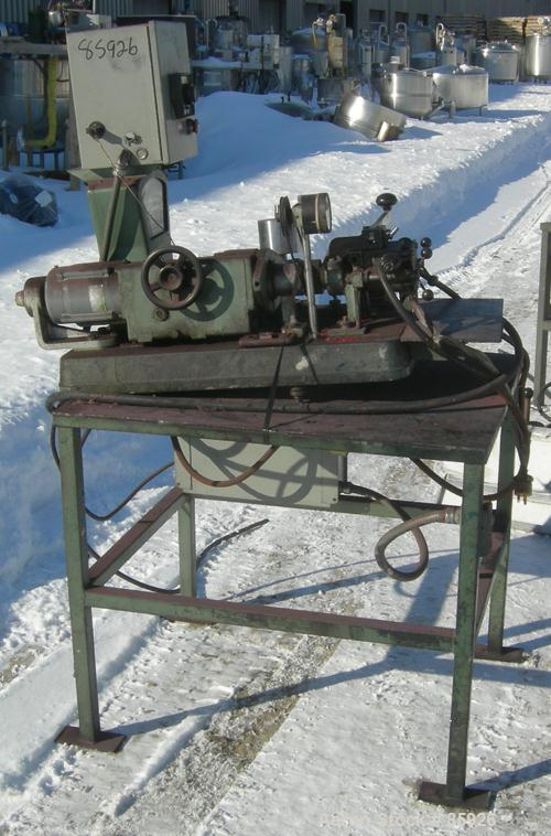Used- C W Brabender Plasti-Corder Mixing System, Model PL-V3AA. (1) 304 stainless steel twin blade jacketed mixing head, app...