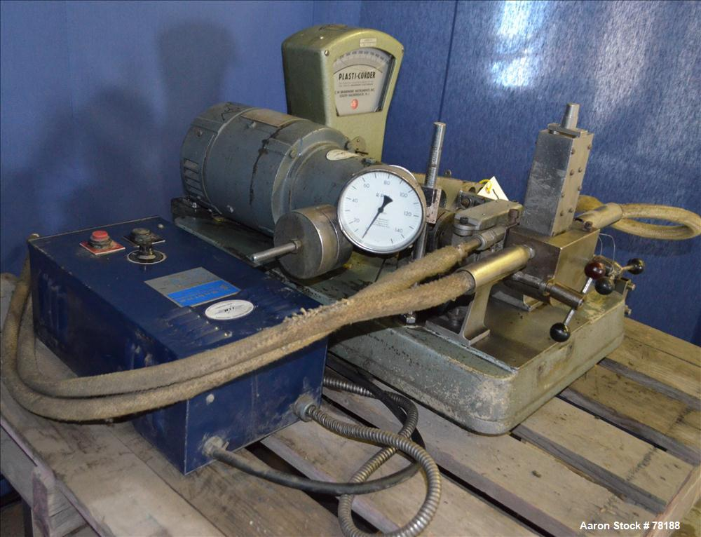 Used- C.W. Brabender Plasticorder Extrusion Plastometer, Model PL150. With ram and weights. Includes Shurite model 850 tempe...