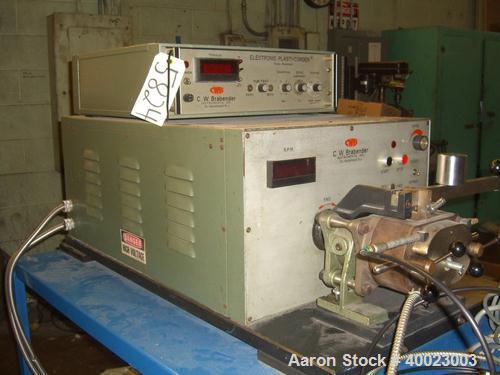 Used: Brabender Model EPL-V301 Torque Rheometer .Brabender Electrionic Torque Rheometer, Model EPL-V301, 3HP, 230 Volt, S/N ...