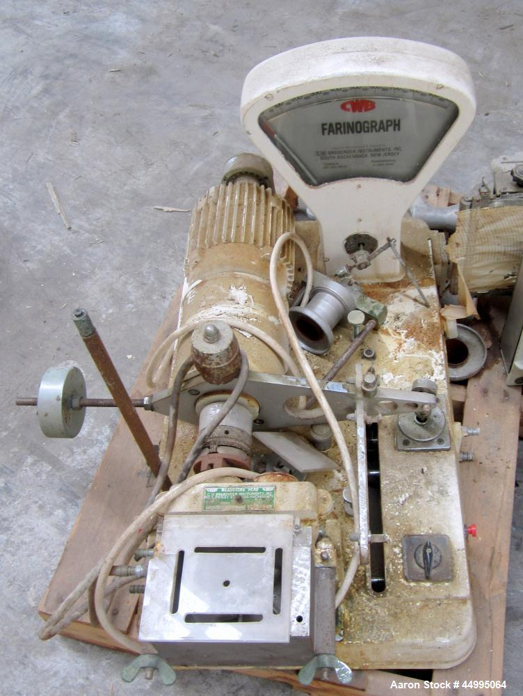 Used-Brabender Farinograph With Double Arm Mixing Head