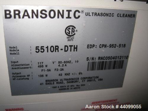 Used-Branson Bransonic Ultrasonic Cleaner Bath, Model 5510R-DTH. Serial# RNC050401211B.
