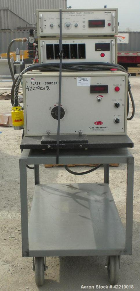 Used- C.W. Brabender Plasti-Corder Mixing System consisting of: (1) Direct Current drive unit,modelEPL-V5501, approximatel...
