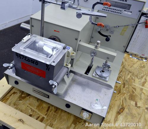 Used- C.W. Brabender Farinograph/ Resistograph, Model FA/R-2.Designed to measure the water absorption of flours, determine t...