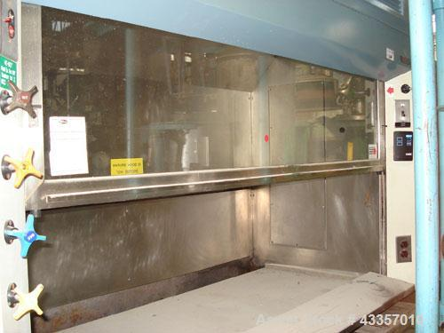 "Used- Duralab Fume Hood, Stainless Steel. 60"" Wide x 24"" deep x 30"" high chamber with glass front, bench top mounted design."