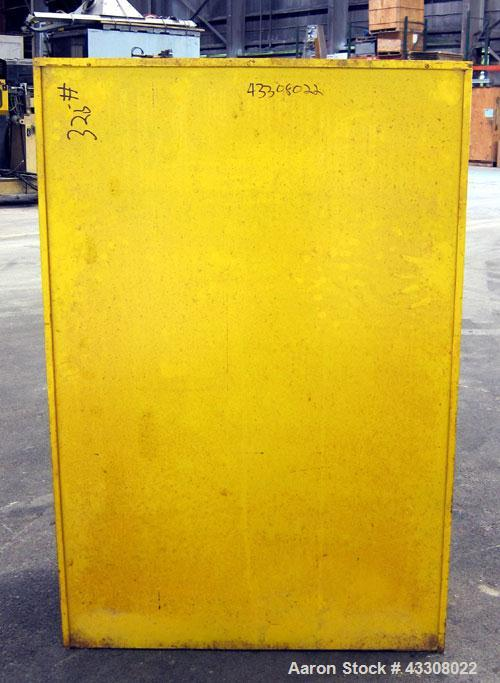 Used- Eagle Manufacturing Safety Storage Cabinet, Model 1947, Carbon Steel. 45 Gallon capacity, (2) Manual doors. Compliance...
