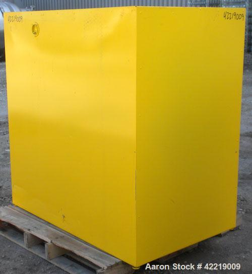 Used- Eagle Manufacturing Horizontal Drum Flammable Storage Cabinet, model 2810, carbon steel. (1) 55 Gallon drum capacity, ...