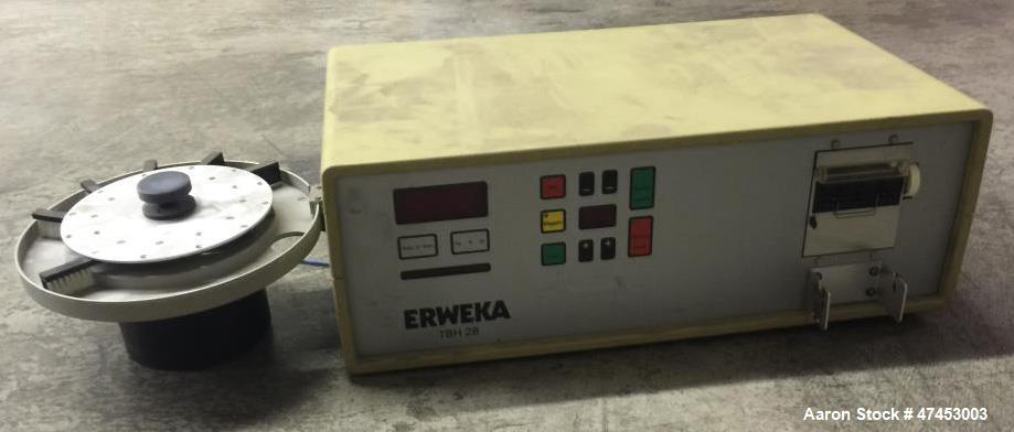 """Used- Erweka Hardness Tester, Model TBH28MDR. Turntable measures 9"""" diameter. Turntable includes (6) brush heads. With contr..."""