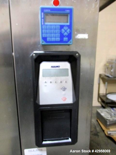 Used- Hamo Glassware Washer, Model F-21. Stainless steel product contact surfaces, with controls, 480 volt, serial# 2.87.5.2...