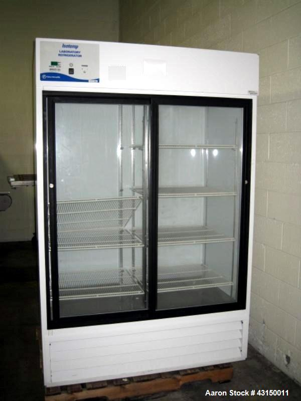 Used- Fisher Scientific Isotemp Laboratory Refrigerator, Catalog#13-986-245G. Approximate 37.5 cubic feet capacity, double g...