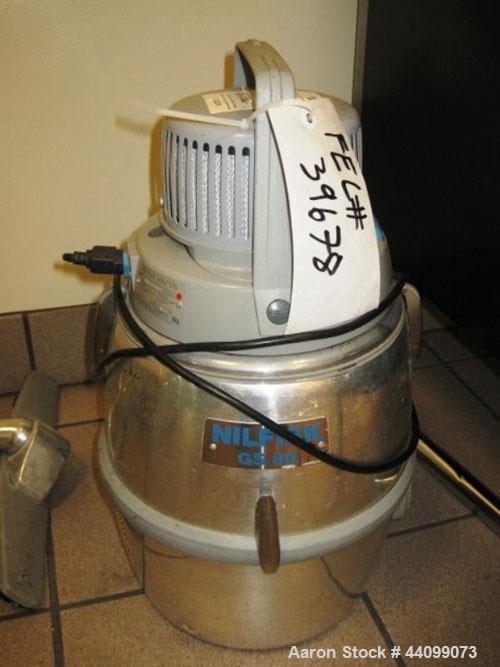 Used- Nilfisk Wet Dry Vacuum, Model GS80. 2 Gallon can, 115 volt, serial# 0024335.