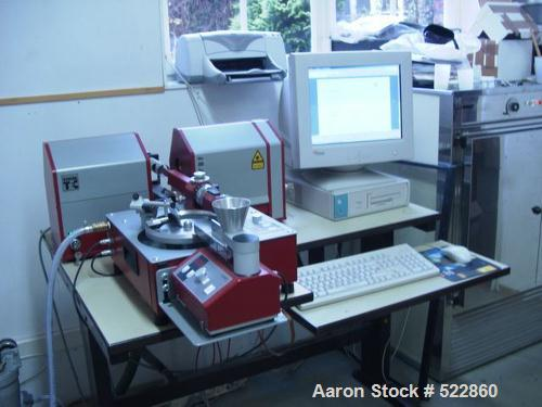 USED: Helos/BF laser diffraction sensor for particle size analysis. (1) Computer Fujitsu Siemens Scenic S2 P4 2.2 ghz, monit...