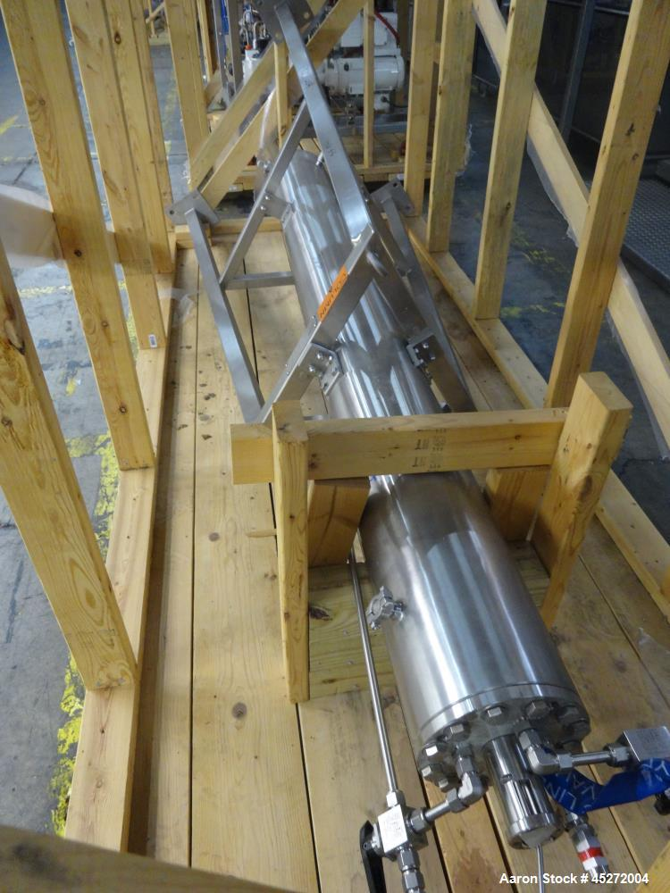Used- Asahi Kasei Bioprocess High Pressure Chromatography System, 316L Stainless Steel. Consists of (1) 15cm Column, integra...